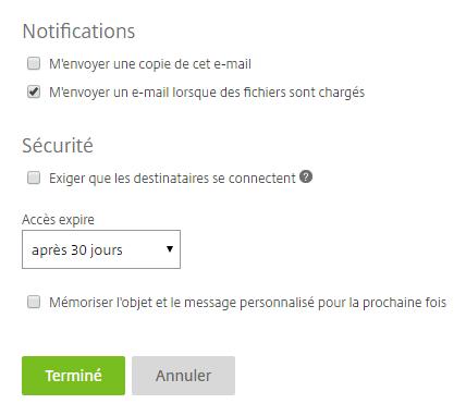 KissFile - Citrix ShareFile - Request files settings