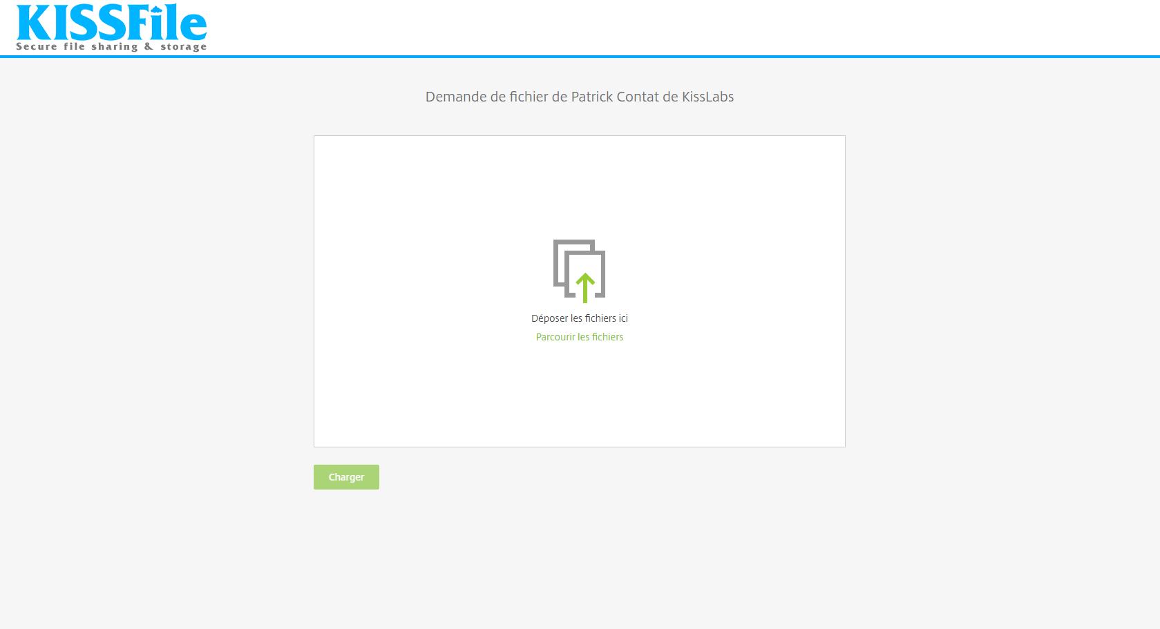 KissFile - Citrix ShareFile - Request files via Outlook - Upload