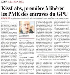 KissLabs, première à libérer les PME des entraves du GPU